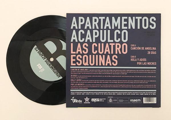 Apartamentos Acapulco - Las cuatro esquinas - Detrás con vinilo